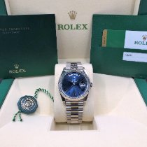 Rolex Day-Date 40 White gold 40mm Blue Roman numerals United States of America, Illinois, Springfield
