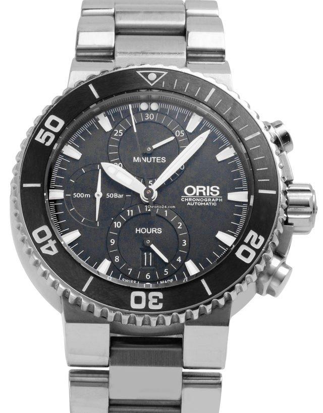 Oris Aquis Chronograph 01 774 7655 4154-07 8 26 01PEB 2015 pre-owned