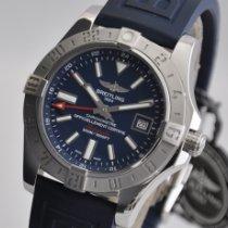 Breitling Avenger II GMT Сталь 43mm Синий