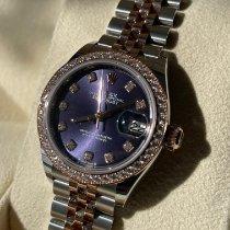 Rolex Lady-Datejust Gold/Steel 28mm Purple No numerals New Zealand, Auckland