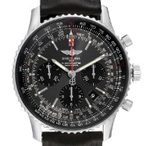 Breitling Navitimer 01 pre-owned 42mm Grey Chronograph Date Tachymeter Leather