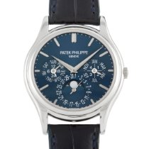 Patek Philippe Perpetual Calendar Platinum 37mm Blue United States of America, Pennsylvania, Southampton