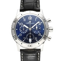 Breguet White gold Automatic Blue 39mm pre-owned Type XX - XXI - XXII