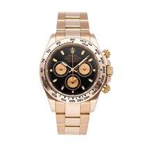 Rolex Rose gold Automatic Black No numerals 40mm Daytona