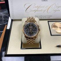Patek Philippe Perpetual Calendar Chronograph Oro rosa 41mm Negro Sin cifras