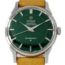 Omega Steel Automatic Green No numerals 35mm pre-owned Constellation
