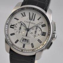 Cartier Calibre de Cartier Chronograph Steel 42mm Silver Roman numerals United States of America, Ohio, Mason