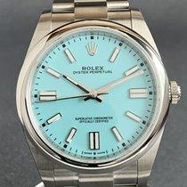 Rolex Oyster Perpetual usado 41mm Azul Aço