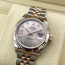 Rolex (ロレックス) レディース デイトジャスト 新品 2021 自動巻き 正規のボックスと正規の書類付属の時計 279171 G