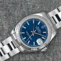Rolex Datejust 31 Stahl 31mm Blau