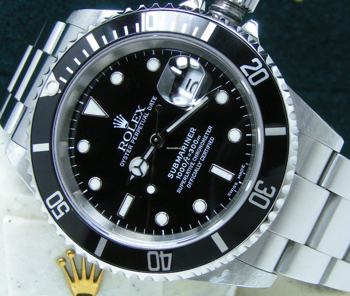 Rolex Submariner Date 16610 2002 new