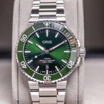 Oris Aquis Date Steel 43.5mm Green No numerals United Kingdom, Helensburgh