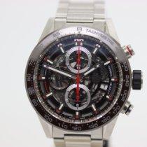 TAG Heuer Carrera Calibre HEUER 01 gebraucht 43mm Transparent Chronograph Datum Stahl