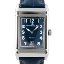 Jaeger-LeCoultre Reverso Grande Taille pre-owned 36.5mm Blue Date Leather
