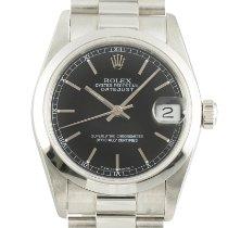 Rolex Platinum Automatic Black 31mm pre-owned Datejust