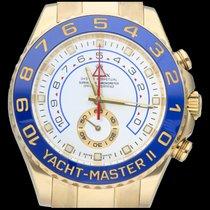 Rolex Yacht-Master II Aur galben 44mm Alb Fara cifre