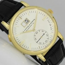 A. Lange & Söhne Yellow gold Automatic Silver (solid) No numerals 37mm pre-owned Langematik