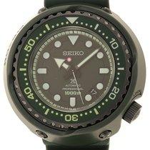 Seiko Титан Автоподзавод Зеленый Без цифр 52mm подержанные Prospex