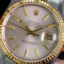 Rolex Datejust 16233 Odlično Zlato/Zeljezo 36mm Automatika