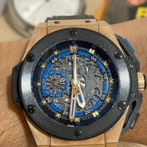 Hublot Rose gold Automatic Black 48mm pre-owned King Power