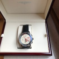Longines Column-Wheel Chronograph Staal 41mm Champagne Geen cijfers