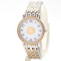 Hermès Sellier Gold/Steel 24mm White Arabic numerals