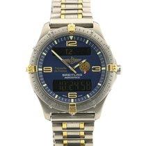 Breitling Aerospace tweedehands 40mm Blauw Chronograaf Datum Wekker GMT Titanium