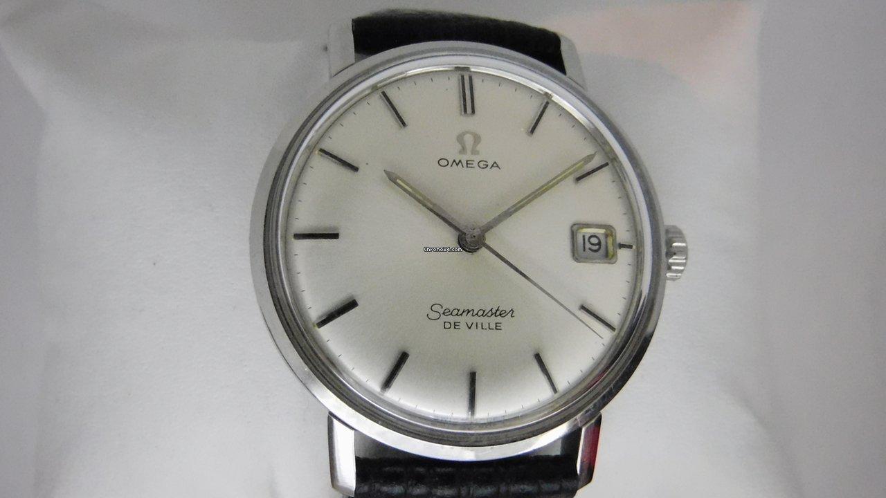 Omega Seamaster DeVille 136.020 136020 136.0020 De Ville manual winding with date 1964 használt