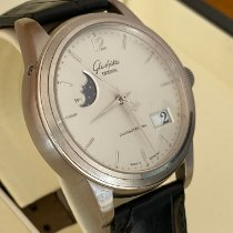 Glashütte Original Senator Panorama Date Moon Phase Steel 39mm Silver No numerals