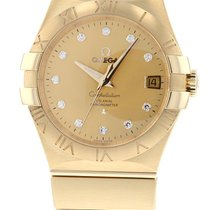 Omega Constellation Ladies Yellow gold 35mm Champagne