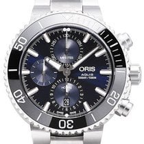 Oris Aquis Chronograph Steel 45.5mm Blue