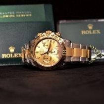 Rolex Daytona Gold/Steel 40mm Champagne No numerals