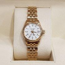 Rolex Oyster Perpetual Lady Date Geelgoud 26mm Goud Geen cijfers
