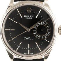 Rolex Cellini Date White gold 39mm Black