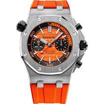 Audemars Piguet Royal Oak Offshore Diver Chronograph Otel 42mm Portocaliu Fara cifre
