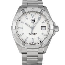 TAG Heuer Aquaracer 300M pre-owned 41mm Silver Date Steel