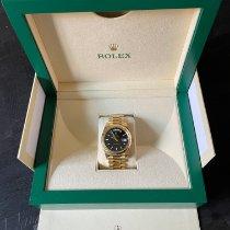 Rolex Day-Date 40 подержанные 40mm Черный Дата Желтое золото