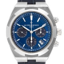 Vacheron Constantin Overseas Chronograph pre-owned 42.5mm Blue Chronograph Date Leather
