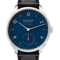 NOMOS Minimatik Stal 35.5mm Niebieski Arabskie