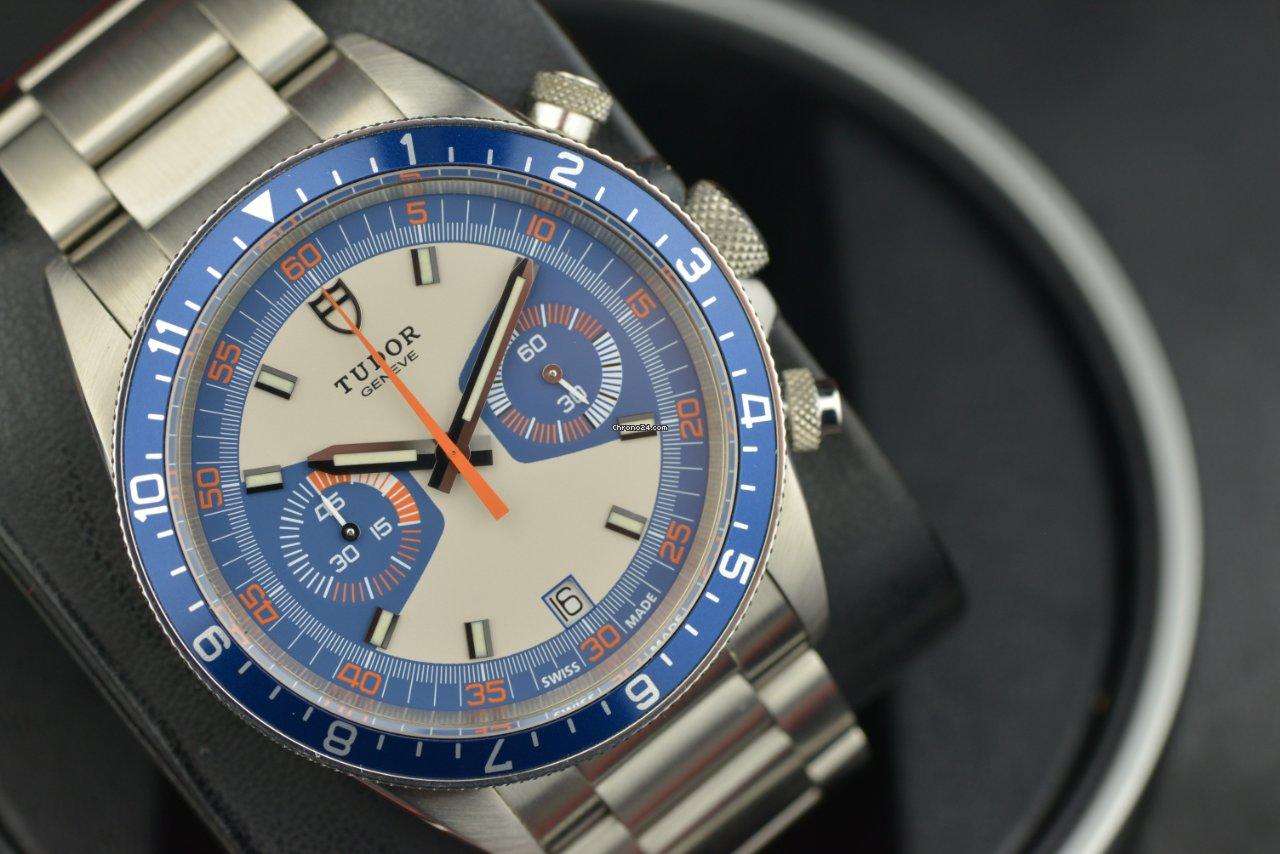 Tudor Heritage Chrono Blue 70330B 2016 pre-owned