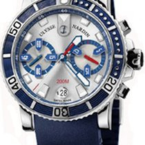 Ulysse Nardin Maxi Marine Diver Steel 43mm Silver No numerals