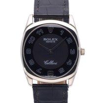 Rolex Cellini Danaos Weißgold 34mm Schwarz Arabisch