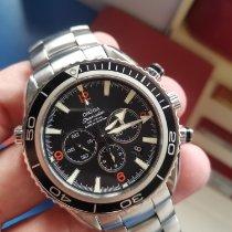 Omega Seamaster Planet Ocean Chronograph Steel 45.5mm Black Arabic numerals Malaysia, Petaling Jaya