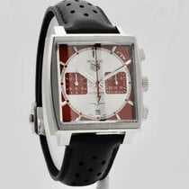 TAG Heuer Monaco Steel 39mm Red No numerals