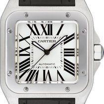 Cartier Santos 100 Steel 51mm Silver Roman numerals United States of America, New York, New York