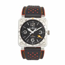 Bell & Ross Steel Automatic Black 42mm pre-owned BR 03