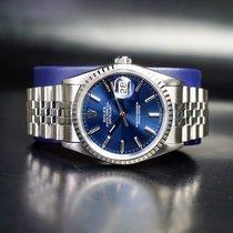 Rolex Datejust Stahl 36mm Blau Keine Ziffern Schweiz, Lugano