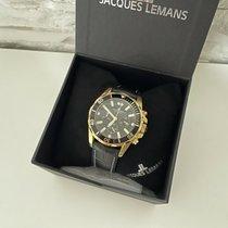 Jacques Lemans pre-owned Quartz 43mm Black Mineral Glass 20 ATM