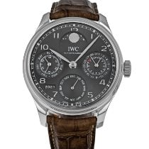 IWC Portuguese Perpetual Calendar White gold 44.2mm Grey Arabic numerals United States of America, Maryland, Baltimore, MD