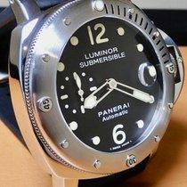 Panerai Luminor Submersible подержанные 44mm Черный Дата Застежка-шип